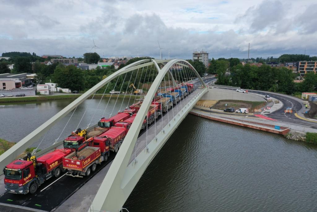 load test bridge brugbelastingsproef brug Halle